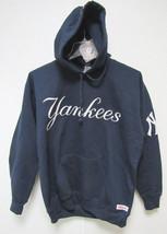 MLB HOODED PULLOVER BLUE SWEATSHIRT APPLIQUE THIN LOGO - NEW YORK YANKEE... - $49.95