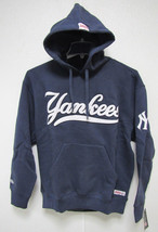 MLB HOODED PULLOVER BLUE SWEATSHIRT STITCHED LOGO - NEW YORK YANKEES - M - $49.95