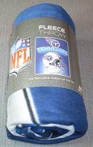 Nfl Nib 50x60 Rolled Fleece Blanket Gridiron Design - Tennessee Titans - $24.95
