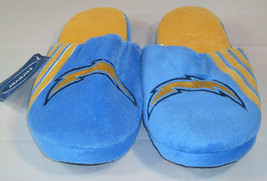 Nwt Nfl Stripe Logo Slide Slippers - San Diego Chargers - Medium - $22.95