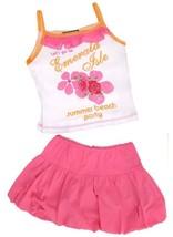 Hannah Banana Top & Skirt Skort Set Bubble Emerald Isle Beach Boutique 3t 4t 4 - $14.84
