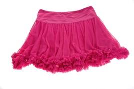 HavenGirl Girls Pink Mesh Ruffles Skirt Sequins Lined L 12 14 - $15.83