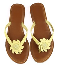 Gap Kids Sandals Yellow Daisy Thong Lemon Zinger Age 10/12 Flip Flops US... - $3.95