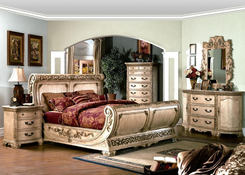 King sleigh bed for sale only 4 left at 65 - King size sleigh bed bedroom set ...