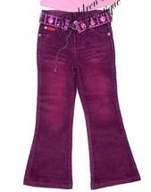 Lipstik Flare Corduroy Burgundy Purple girls Pants Boutique 3t 4t 4 - $7.91