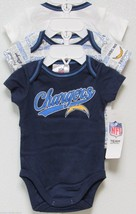 Nfl Nwt Infant ONESIE-SET Of 3- San Diego Chargers 18 Months - $29.95