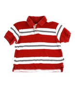 Gap kids Red White Wide Stripe Boys Polo Top 3 4 - $5.93