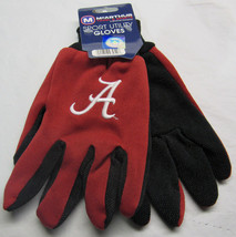 Ncaa Nwt 2-TONE No Slip Utility Work Gloves Mc Arthur - Alabama Crimson Tide - $8.95