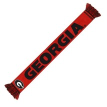 "Nwt Ncaa 2014 Wordmark Team Stripe Acrylic Scarf 64""x7"" Georgia Bulldogs - $19.95"
