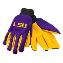 Ncaa Nwt Team Color No Slip Palm Utility Gloves - Louisiana State Tigers - Lsu - $9.50