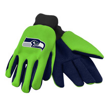 Nfl Nwt Team Color No Slip Palm Utility Gloves - Seattle Seahawks - $8.75