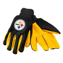 Nfl Nwt No Slip Palm Utility Gloves - Pittsburgh Steelers - Black W/ Yellow Palm - $9.95