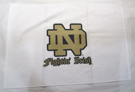 Ncaa Nwt 15x25 Sports Fan Towel -NOTRE Dame Fighting Irish - White Logo & Name - $16.95