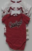 Nfl Nwt Infant ONESIE-SET Of 3- Arizona Cardinals 0-3M - $29.95