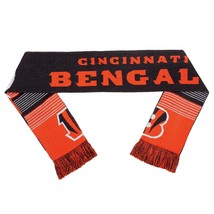 "Nwt Nfl 2015 Reversible Split Logo Scarf 64"" By 7"" - Cincinnati Bengals - $21.95"