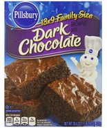 Pillsbury Brownie Mix, Dark Chocolate, 18.4 Ounce (Pack of 12) - $39.59