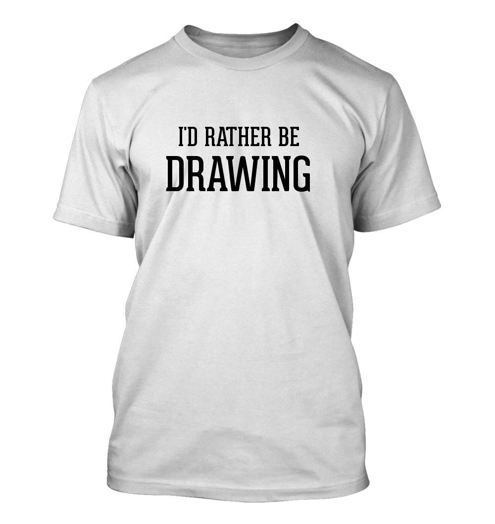 I'd Rather Be DRAWING - Men's Adult Short Sleeve T-Shirt