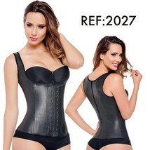 Ann Michell 2027 Latex Full Vest Black (36 - Medium) - $42.03