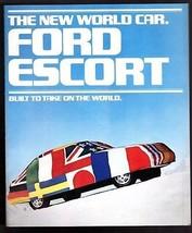 Original 1981 Ford Escort GLX 4 door GL 4 door SS  L 3 Door 22 Page   - $9.49
