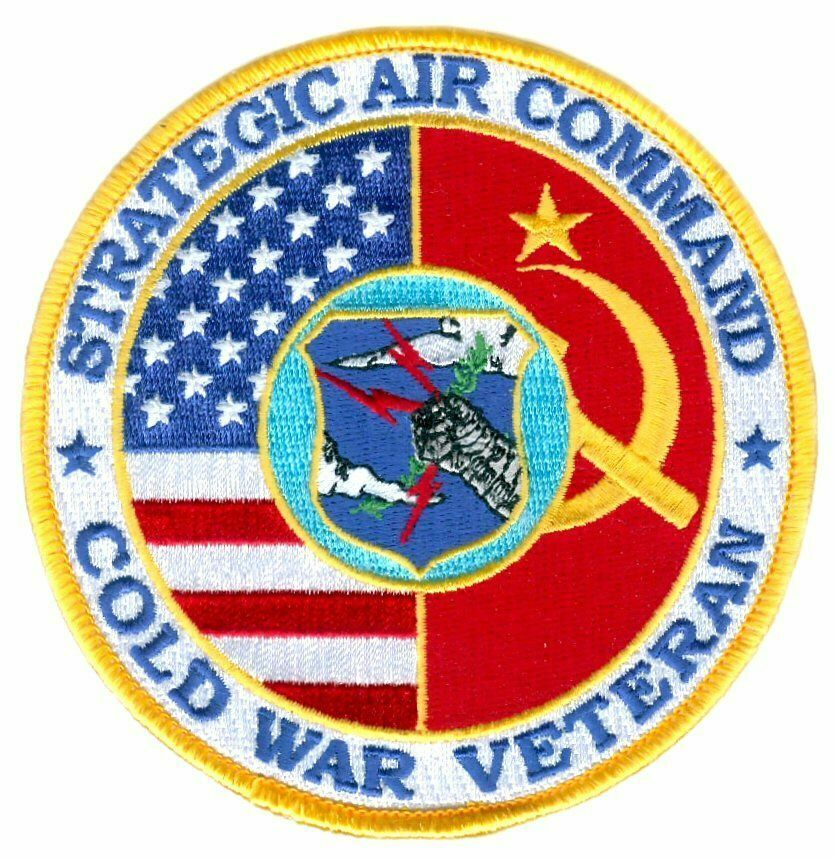 "Primary image for STRATEGIC AIR COMMAND AIR FORCE  COLD WAR VETERAN 4"" EMBROIDERED  PATCH"