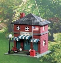 POST OFFICE Birdhouse Wood Outdoor Decor - $20.89
