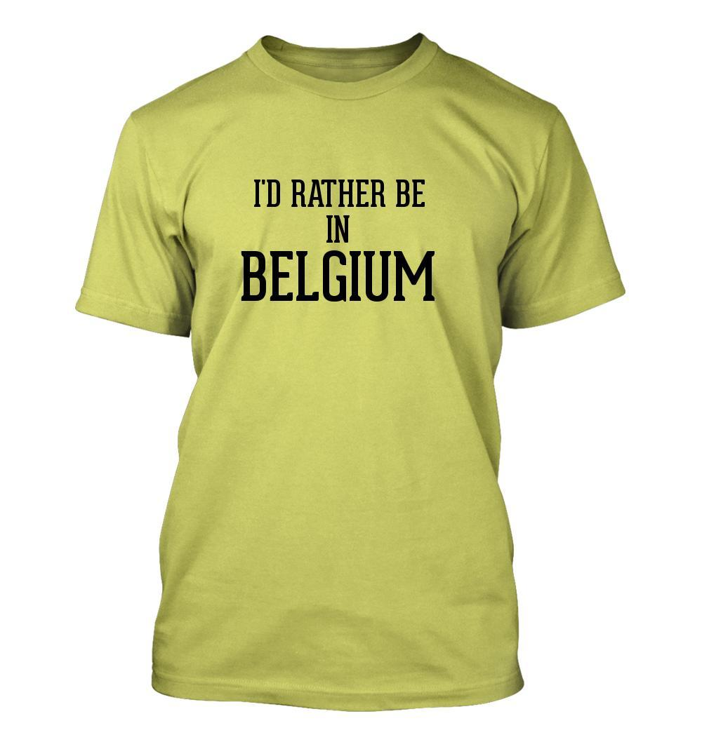 I'd Rather Be In BELGIUM - Men's Adult Short Sleeve T-Shirt