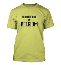 I'd Rather Be In BELGIUM - Men's Adult Short Sleeve T-Shirt - $24.97