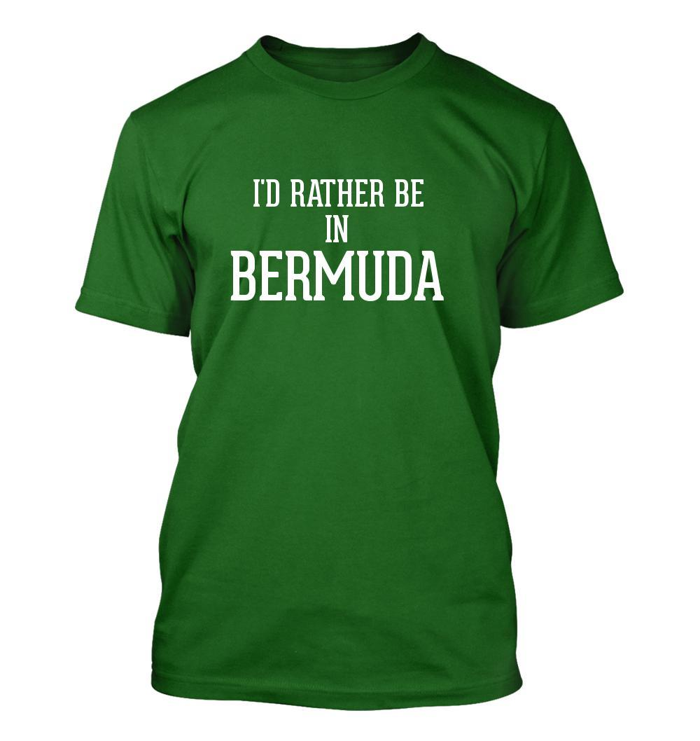 I'd Rather Be In BERMUDA - Men's Adult Short Sleeve T-Shirt