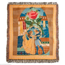 Disney Theme Parks Beauty and the Beast Throw Blanket Princess Belle - $179.95