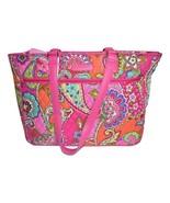 Vera Bradley Pink Swirls Work Tote Bag Laptop New - $119.95