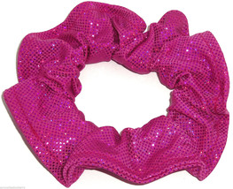 Berry Sequins on Hot Pink Spandex Hair Scrunchie Scrunchies by Sherry  - $8.99