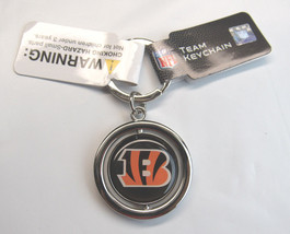 NFL NIB SPINNING LOGO KEY CHAIN FOREVER COLLECTIBLES - CINCINNATI BENGALS - €8,70 EUR
