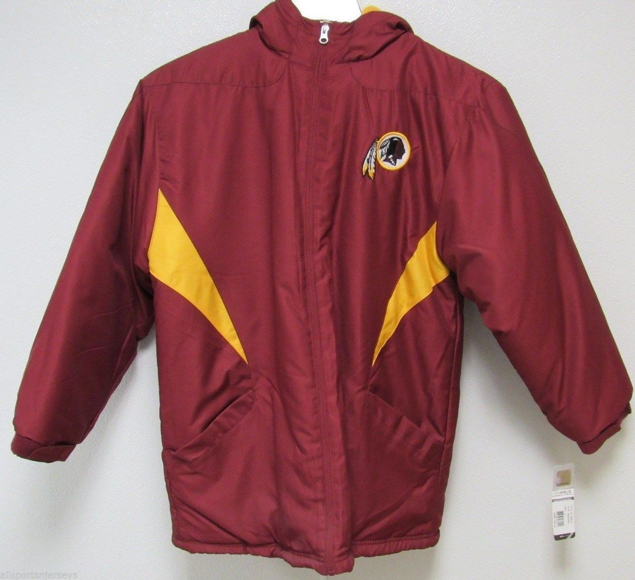 size 40 ab72c 72f6d Nwt Nfl Washington Redskins Sideline Jacket and 50 similar items