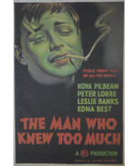 The Man who knew too much - Peter Lorre  - Movie Poster - Framed Picture 11 x 14 - £23.63 GBP