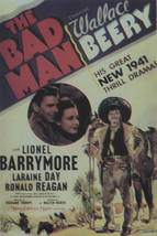 The Bad Man - Wallace Beery  - Movie Poster - Framed Picture 11 x 14 - $32.50