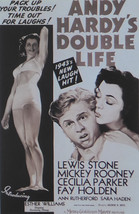 Andy Hardy's Double Life - Mickey Rooney  - Movie Poster - Framed Picture 11 x 1 - $32.50