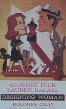 Designing Woman - Gregory Peck  - Movie Poster - Framed Picture 11 x 14 - $32.50