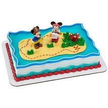 "MICKEY FRIENDS MICKEY & MINNIE (3"") PIRATE CAKE TOPPER. INCLUDES A RED M... - $8.86"