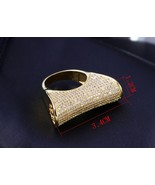 18 k Gold Plated with Cubic Zircon Crystal Ring High Quality Fashion Jew... - $49.95