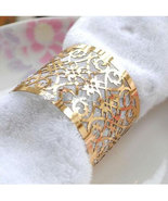 60pcs Laser Cut Napkin Ring Metallic Paper Napkin Rings for Wedding Deco... - $20.40