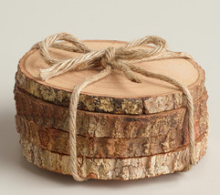 Rustic Wood Coasters Wood Slice Coasters Tree B... - $12.00