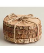Rustic Wood Coasters Wood Slice Coasters Tree Bark Slice Tree Slices Woo... - $15.00