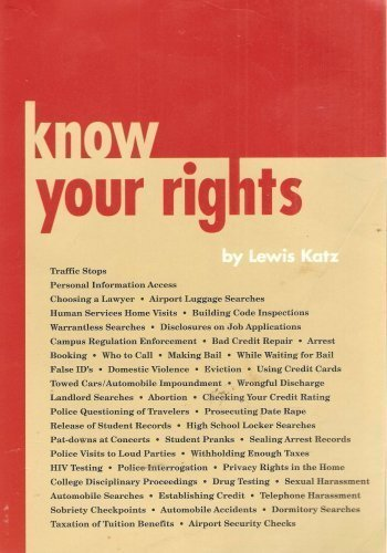 Know Your Rights [Hardcover] [Jan 01, 1994] Katz