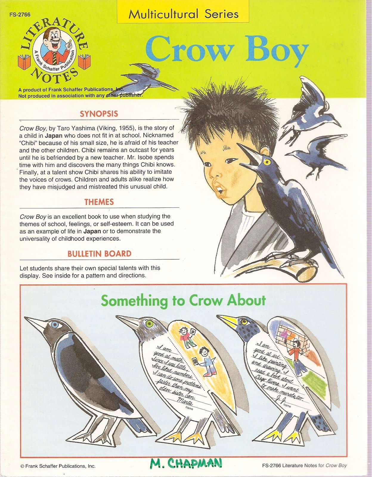 Crow Boy - Multicultural Series (Literature Notes) [Pamphlet] [Jan 01, 1993] ...