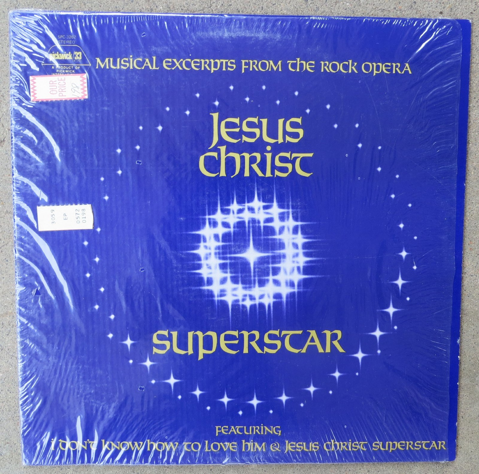 Jesus Christ Superstar Musical Excerpts from the Rock Opera Original Pickwick...