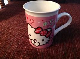 Coffee Mug Hello Kitty 2012 White Pink Red Black Sanrio Porcelain 8 oz  - $19.69