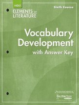Elements of Literature: Vocubulary Development Sixth Course [Paperback] [Jan ...
