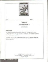 Scholastic Literacy Place, Grade 3 Unit Test, Form B, Hit Series [Paperback] ...