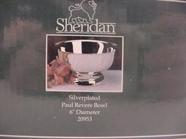 "Sheridan 6"" Diameter Silverplate Paul Revere Bowl New in the Box Free Sh... - $24.99"