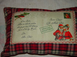 Christmas Five Cent Stamp  Special Delivery Pillow Santa Claus The North... - $22.00